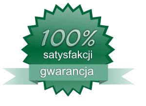 Masz 100% gwarancje satysfakcji